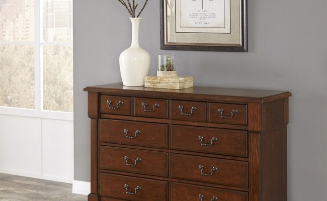 Home Styles Aspen Rustic Cherry 8 Drawer Double Dresser At