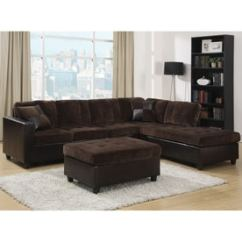 Coaster Tess Sectional Sofa Com Chaise Usado Fine Furniture Couches Sofas Loveseats At Lowes Mallory Casual Chocolate Dark Brown Velvet
