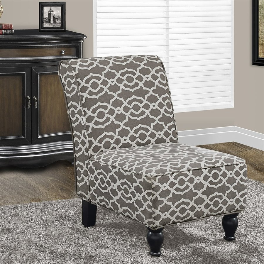 brown slipper chair desk small space monarch specialties casual cotton at lowes com