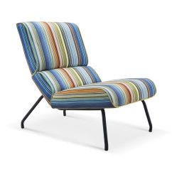Colorful Accent Chair Chairs For Party Hall Whiteline Imports Elouise Midcentury Multi Colored Stripe