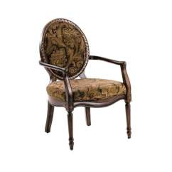 Brown Accent Chairs Leather Bar Comfort Pointe Madison Victorian Black Gold Chair At