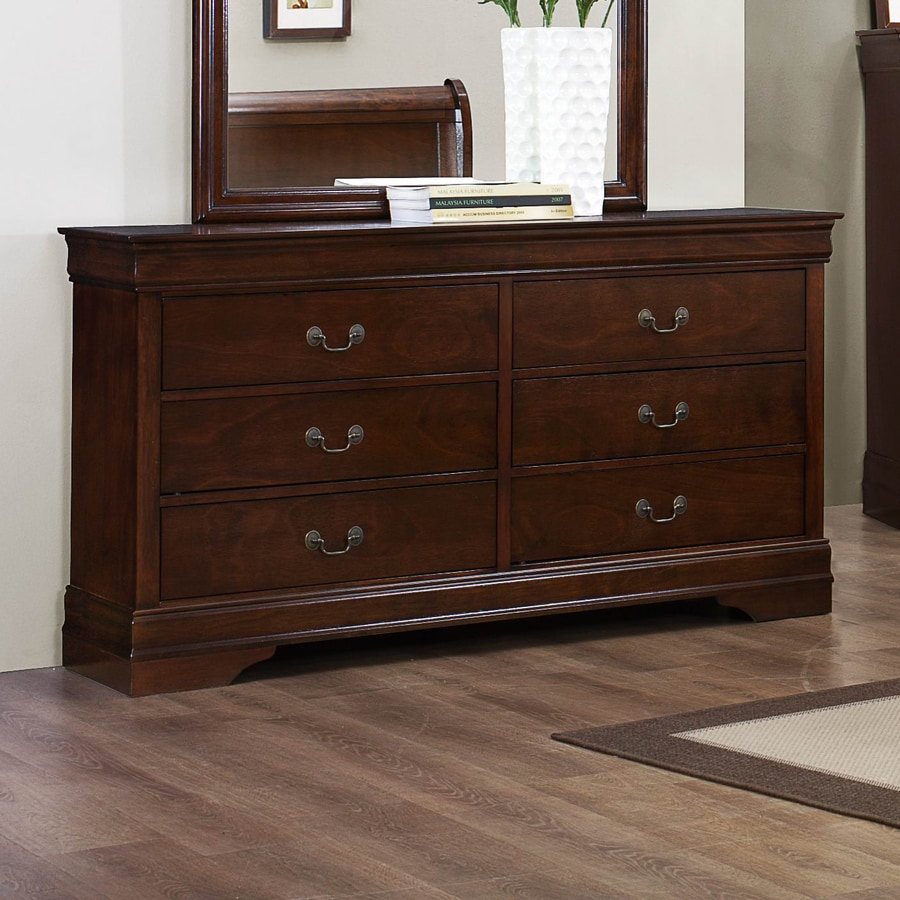 Homelegance Mayville Burnished Brown Cherry Rubberwood 6