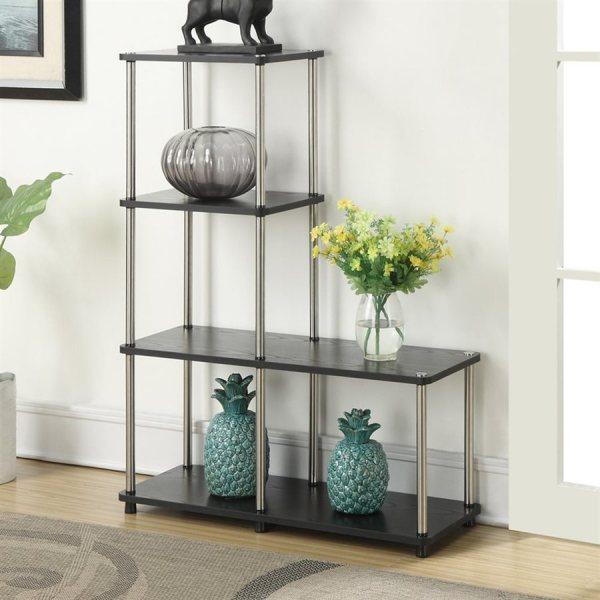 Convenience Concepts Design2go Black Metal 4-shelf