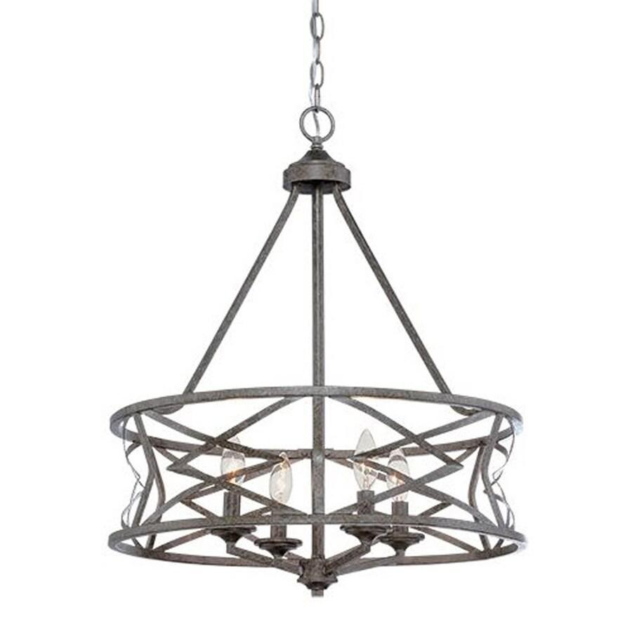 Shop Millennium Lighting 4-Light Antique Silver Cage