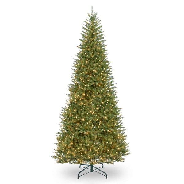 National Tree Company 12-ft Pre-lit Slim Artificial Christmas With 1000 Constant White