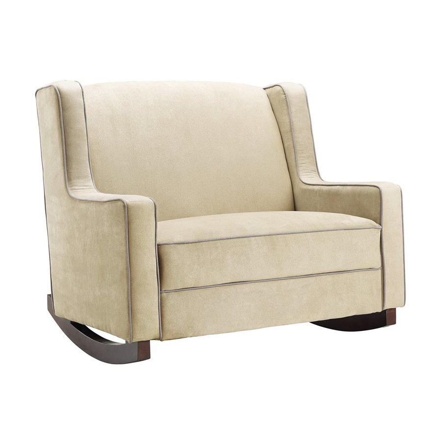 dorel rocking chair futon mattress covers living baby relax casual beige microfiber at