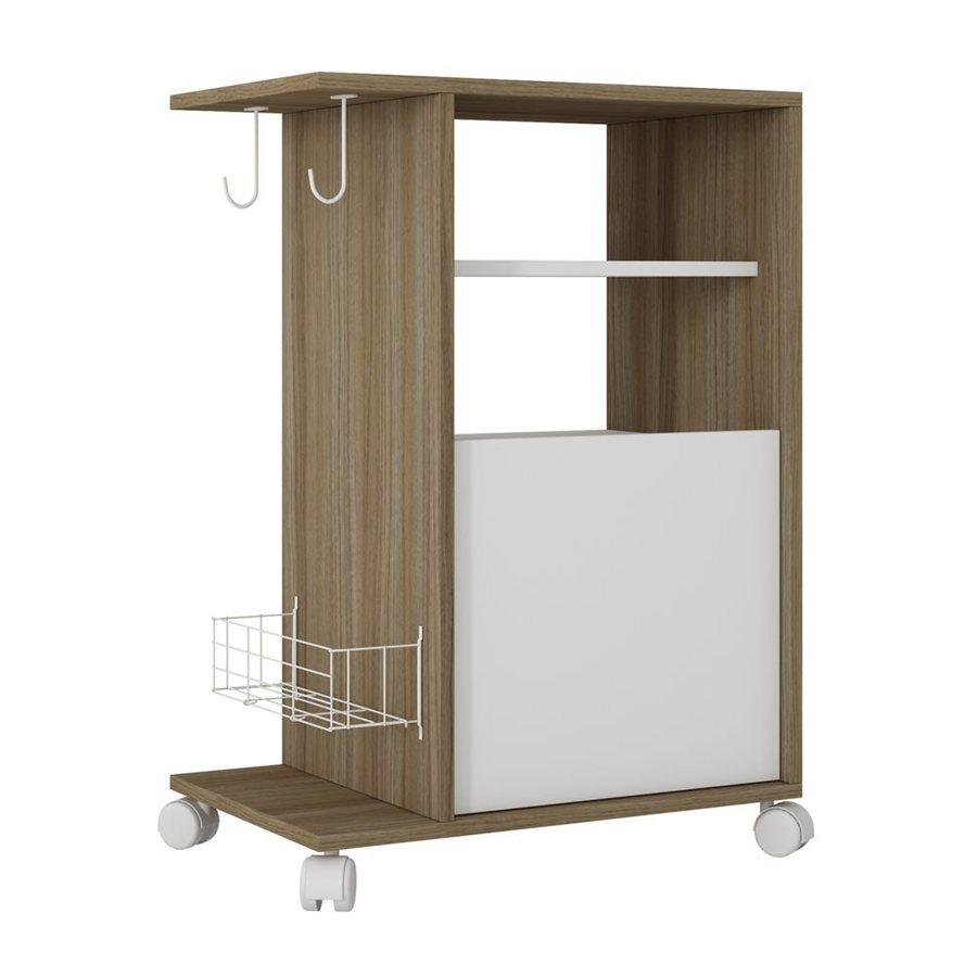 modern kitchen cart sink lights manhattan comfort brown carts at lowes com