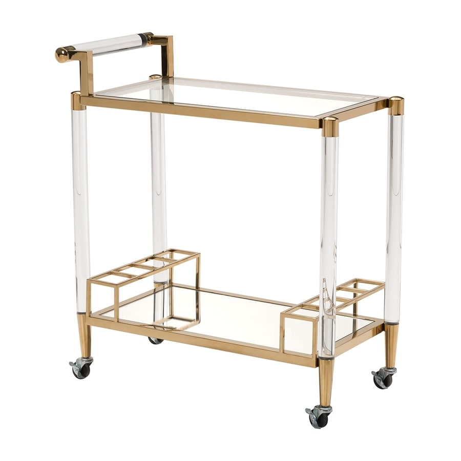modern kitchen cart brushed bronze faucet zuo gold at lowes com