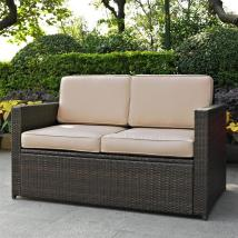 Crosley Furniture Palm Harbor Wicker Outdoor Loveseat With