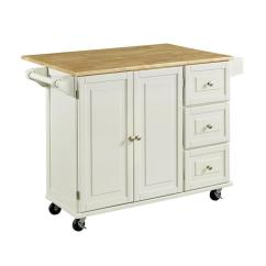 Home Styles Kitchen Cart Install Island White Casual At Lowes Com