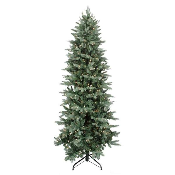 Northlight 10-ft Pre-lit Frasier Fir Slim Artificial Christmas Tree With 1400 Constant White