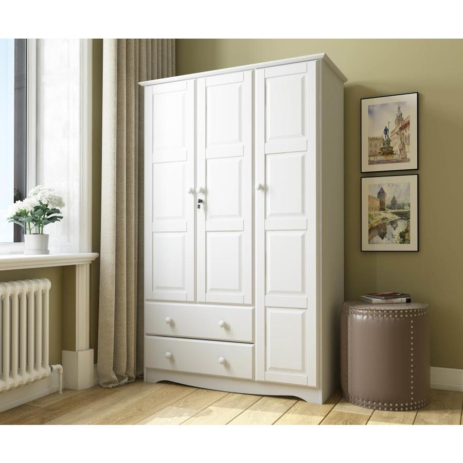 palace imports white armoire in the armoires department at lowes com