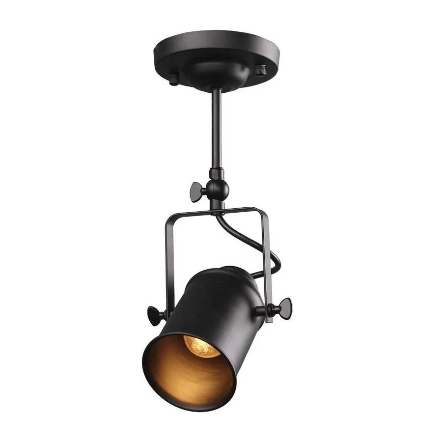 https www lowes com pd lnc lyra 1 light dimmable matte black gimbal head s track lighting head 1001225058