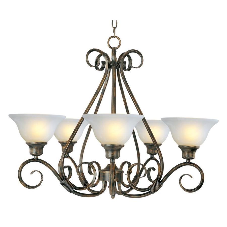 maxim lighting pacific 5 light kentucky bronze transitional chandelier