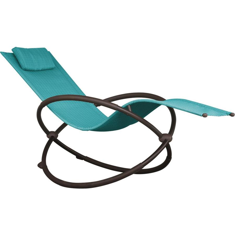 vivere orbl1 black metal frame chaise lounge chair s with turquoise mesh seat