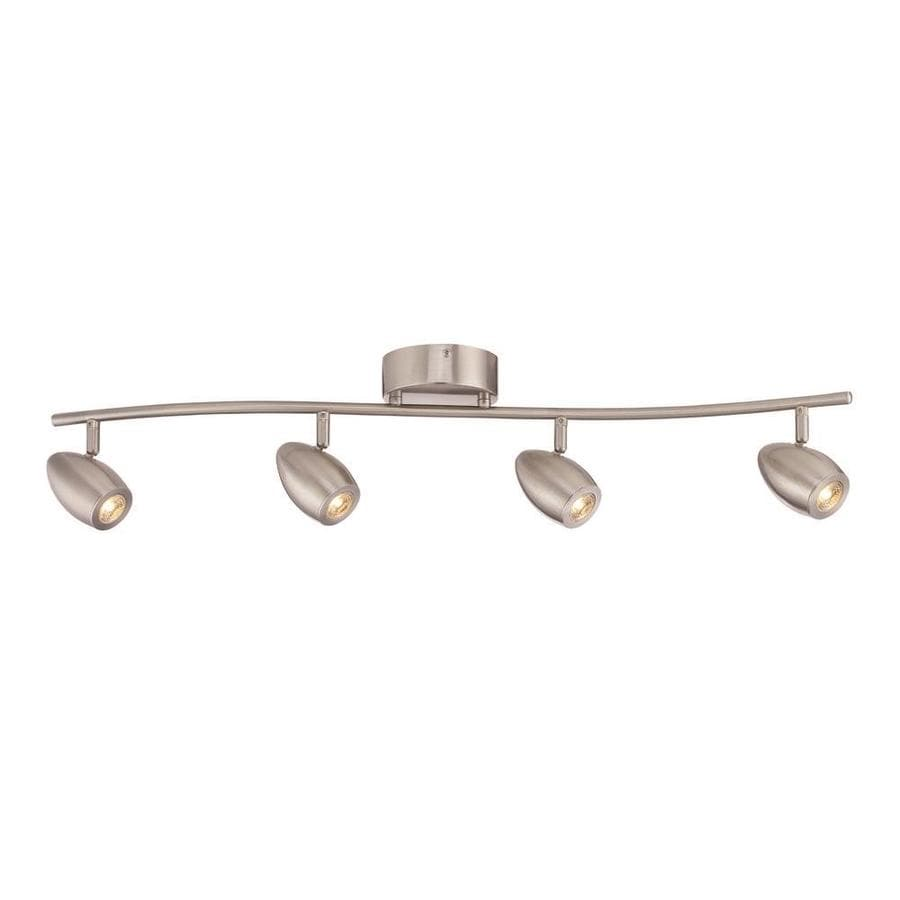 designers fountain 4 light 32 8 in brushed nickel dimmable led track bar fixed track light kit