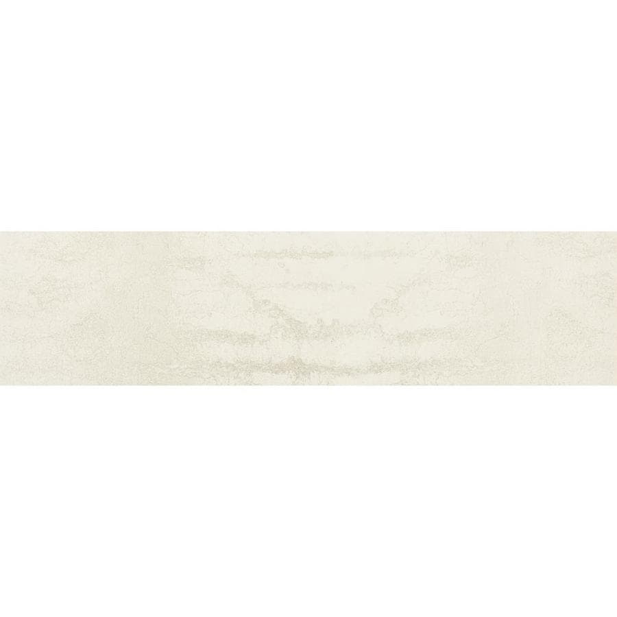 crossville engarde 12 pack chalk 6 in x 24 in metallic porcelain stone look floor and wall tile