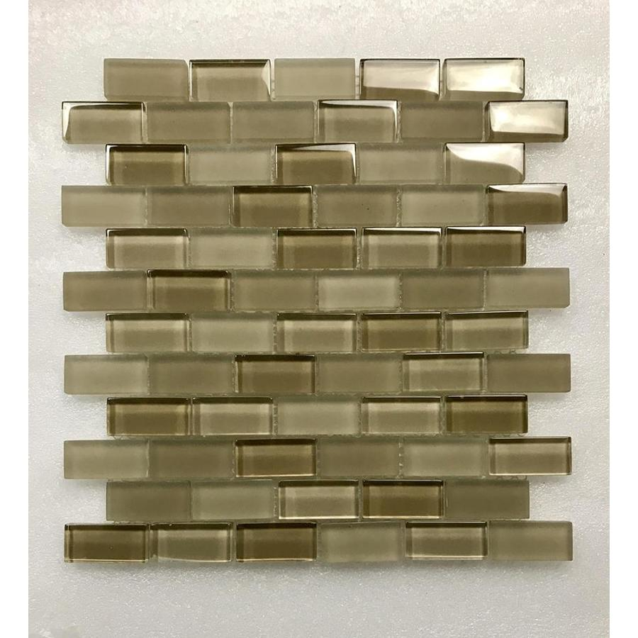 abolos free flow 11 pack pastis beige glossy 12 in x 12 in glossy glass subway floor and wall tile