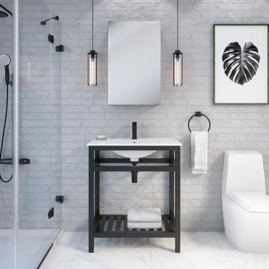 Metalim Black Bathroom Vanities With Tops At Lowes Com