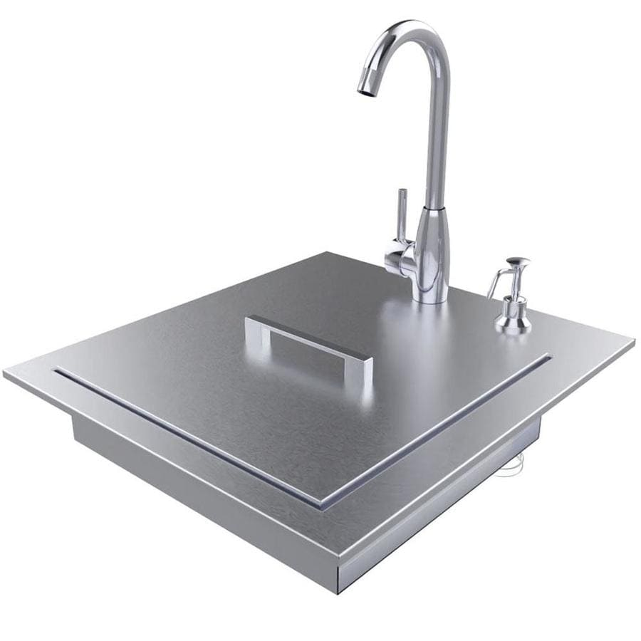 sunstone premium sink 22 25 in l x 20 5 in w stainless steel 4 2 hole stainless steel commercial residential bar sink