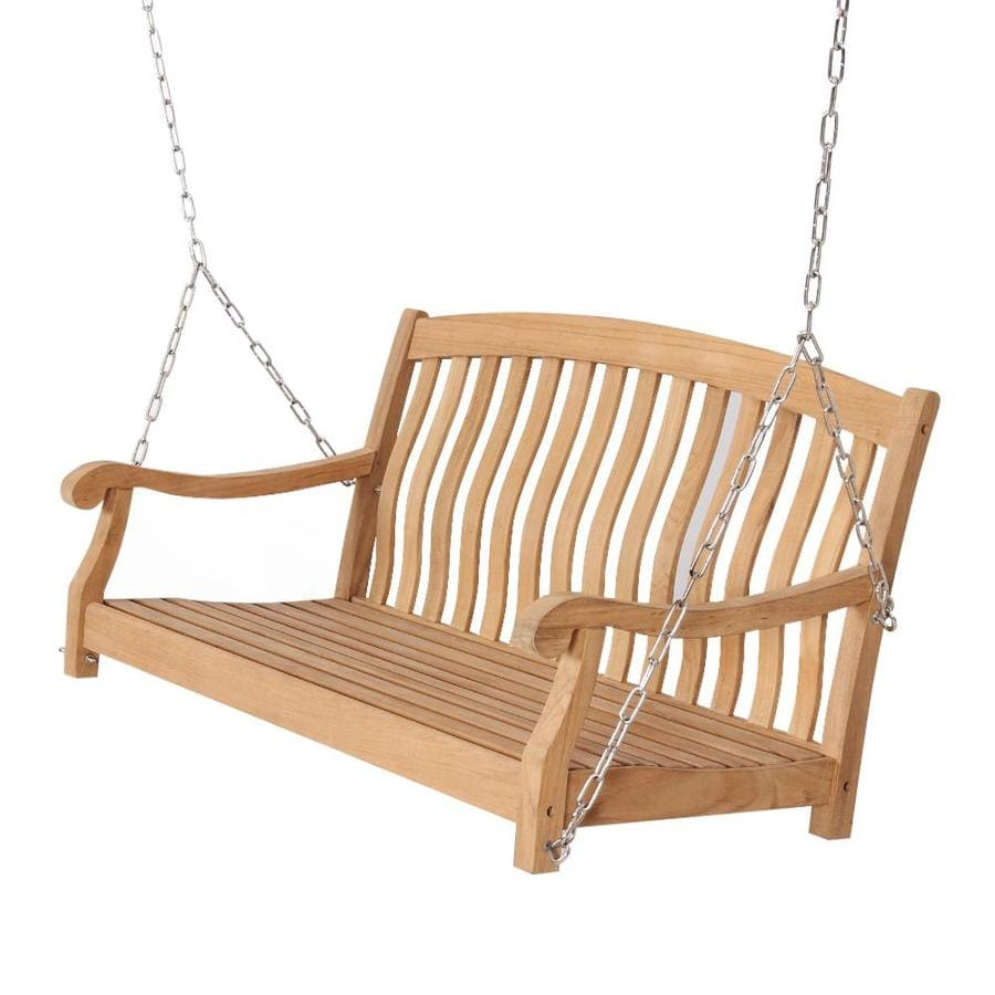 cambridge casual colton 2 person natural teak wood outdoor swing