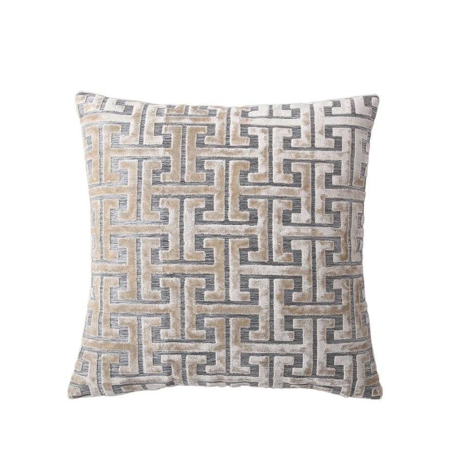 mhf home mhf home grace gold geometric 18in throw pillow cover