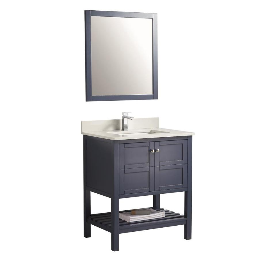 https www lowes com pd clihome 34 in white single sink bathroom vanity with blue ceramic top mirror included 1002522172