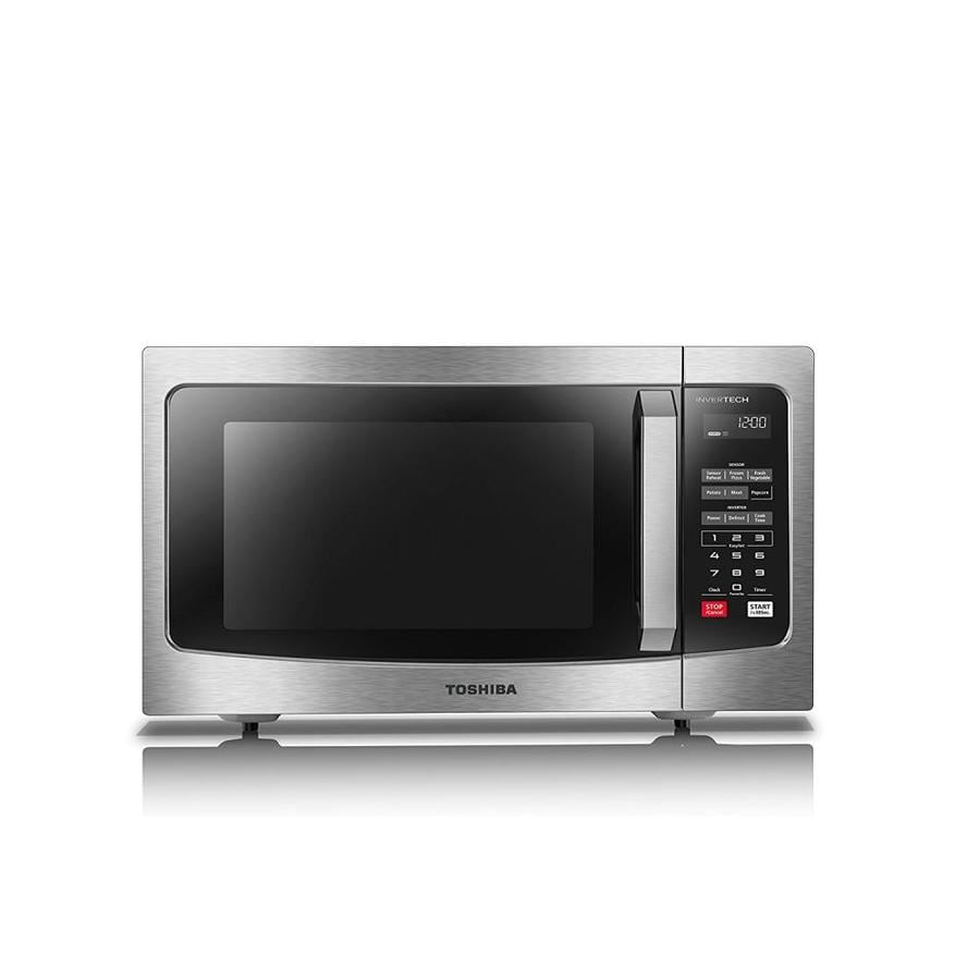 toshiba 1 6 cu ft 1250 watt countertop microwave stainless steel