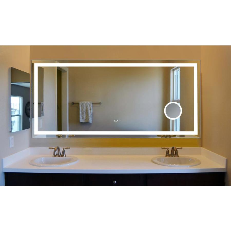 Innoci Usa Eros 60 In Lighted Led Rectangular Frameless Bathroom Mirror In The Bathroom Mirrors Department At Lowes Com