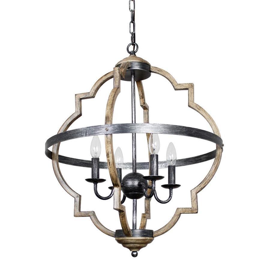 parrot uncle 4 light distressed coastal chandelier
