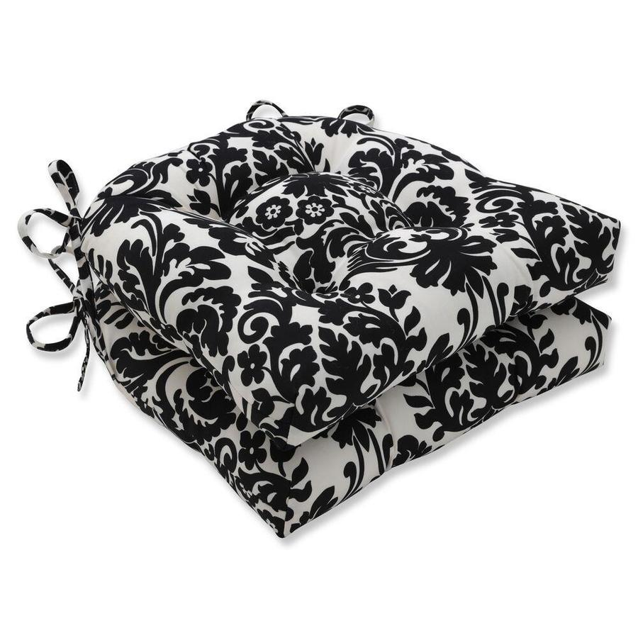pillow perfect essence onyx 2 piece black patio chair cushion in the patio furniture cushions department at lowes com
