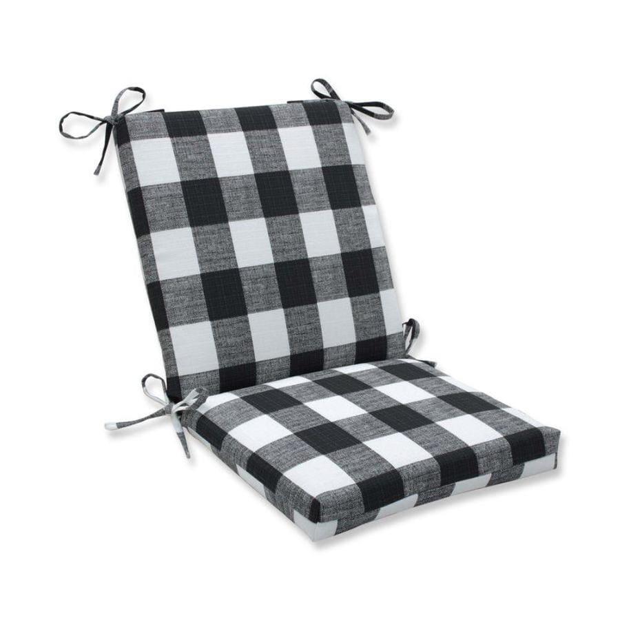 pillow perfect anderson matte black patio chair cushion