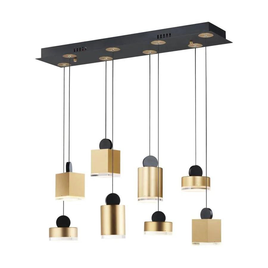 et2 nob black gold modern contemporary geometric led kitchen island light