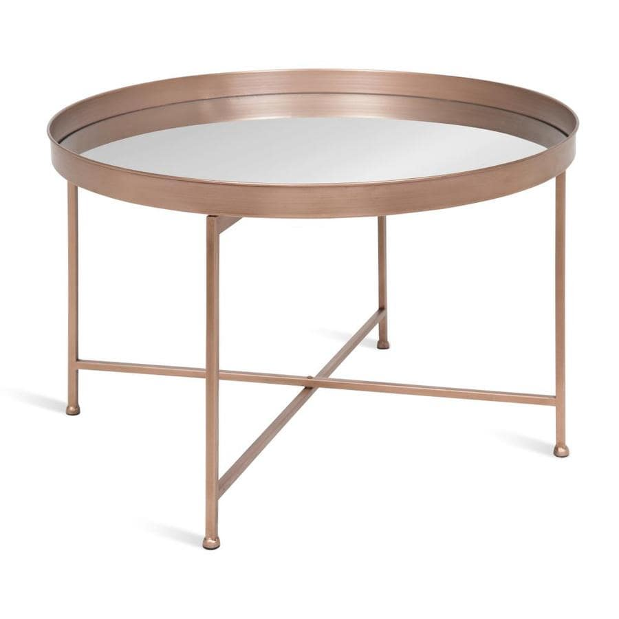 kate and laurel celia silver glass coffee table