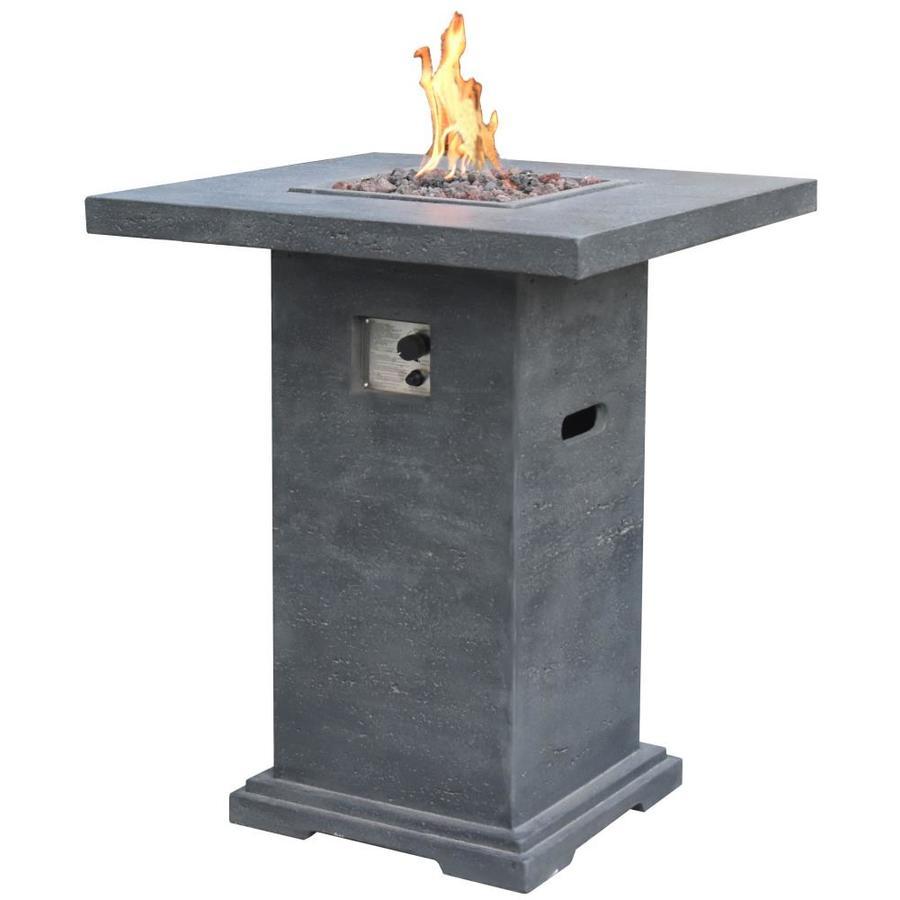 square firepit table concrete high