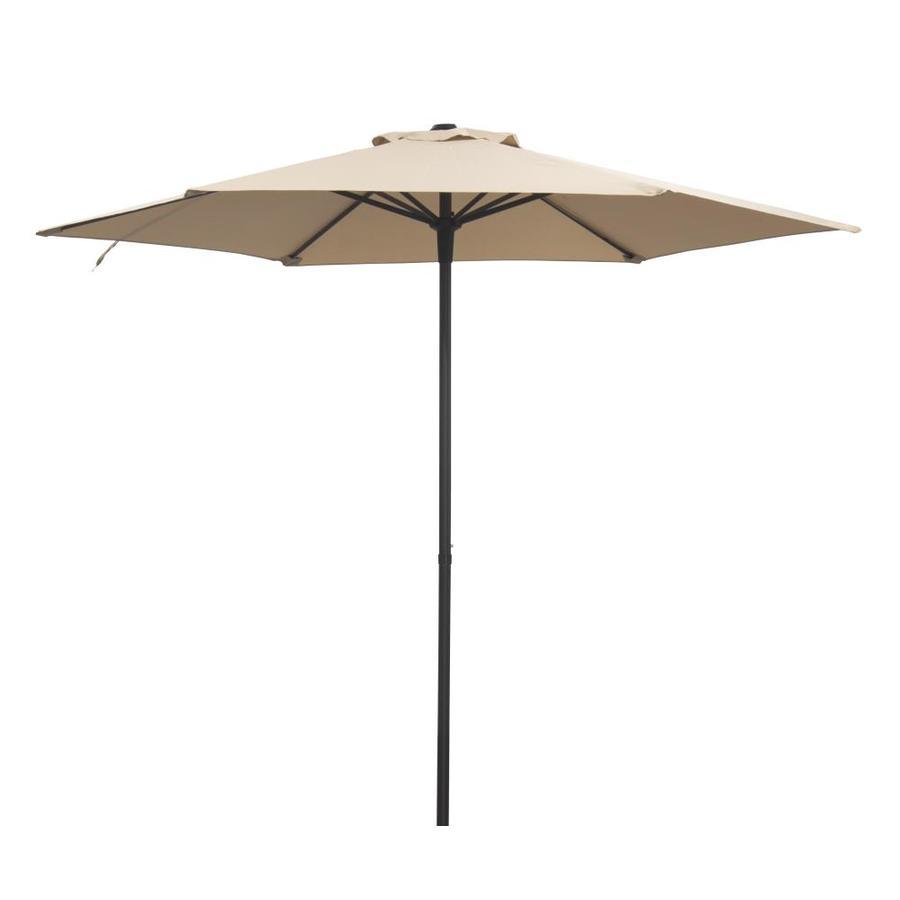 donglin furniture 7 5 ft beige no tilt market patio umbrella