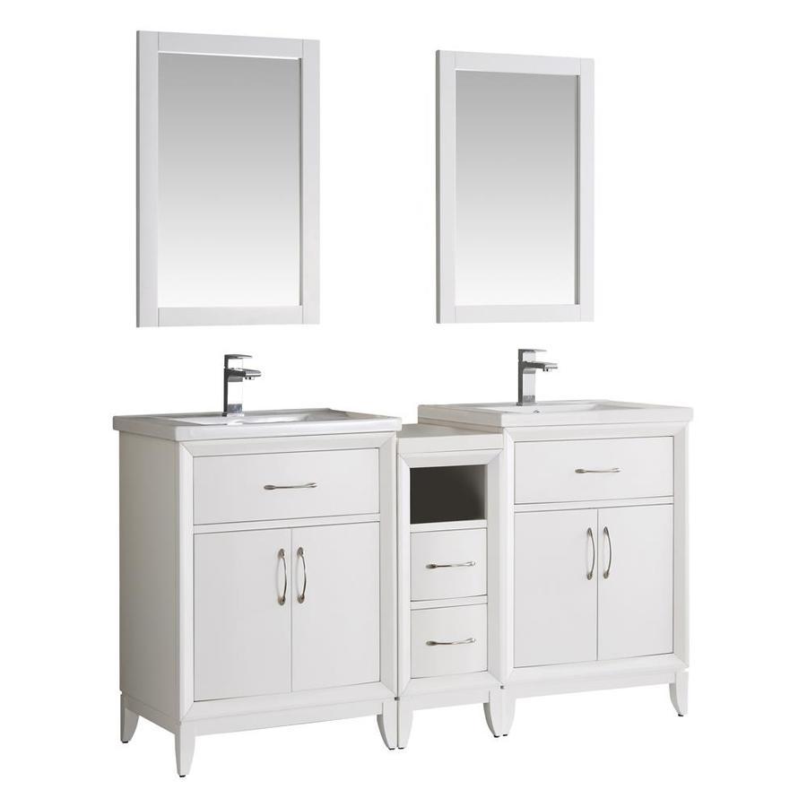 double sink ceramic bathroom vanities