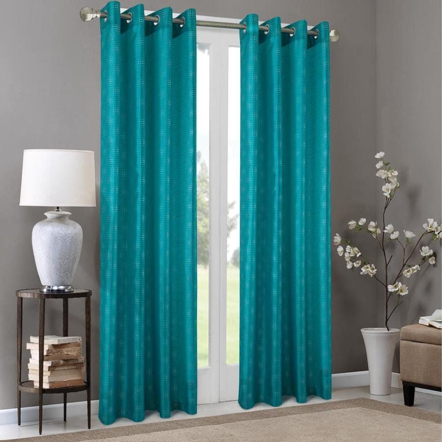 olivia gray 90 in teal polyester light