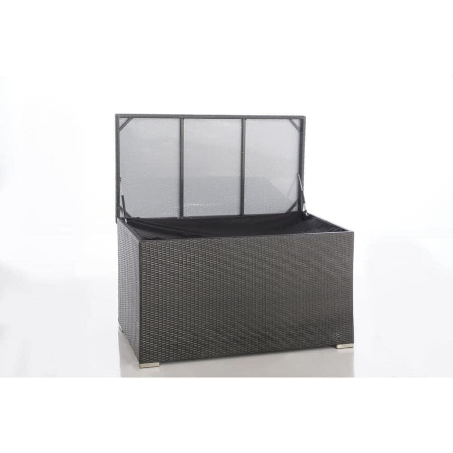 alfresco home 353 1620 55 in l x 30 in 190 gallon oxford black plastic deck box lowes com