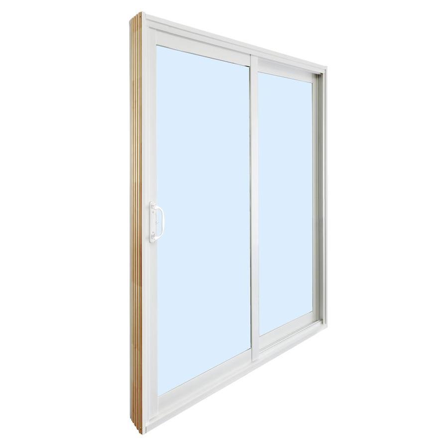 dusco dusco patio doors 72 in x 80 in clear glass vinyl left hand sliding double door patio doors patio door with screen