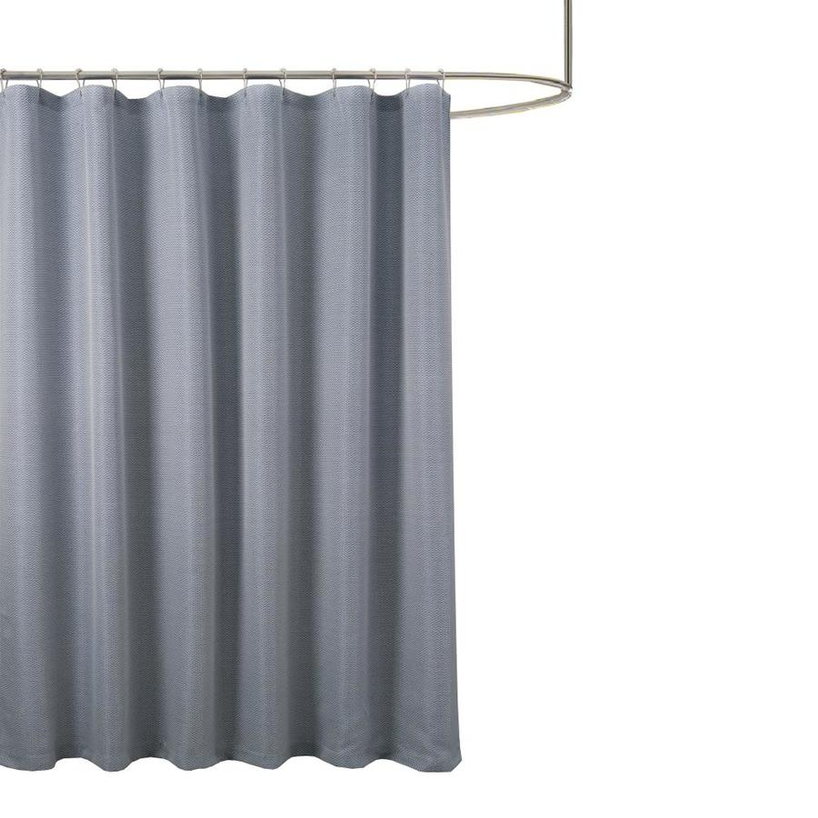 polyester navy solid shower curtain