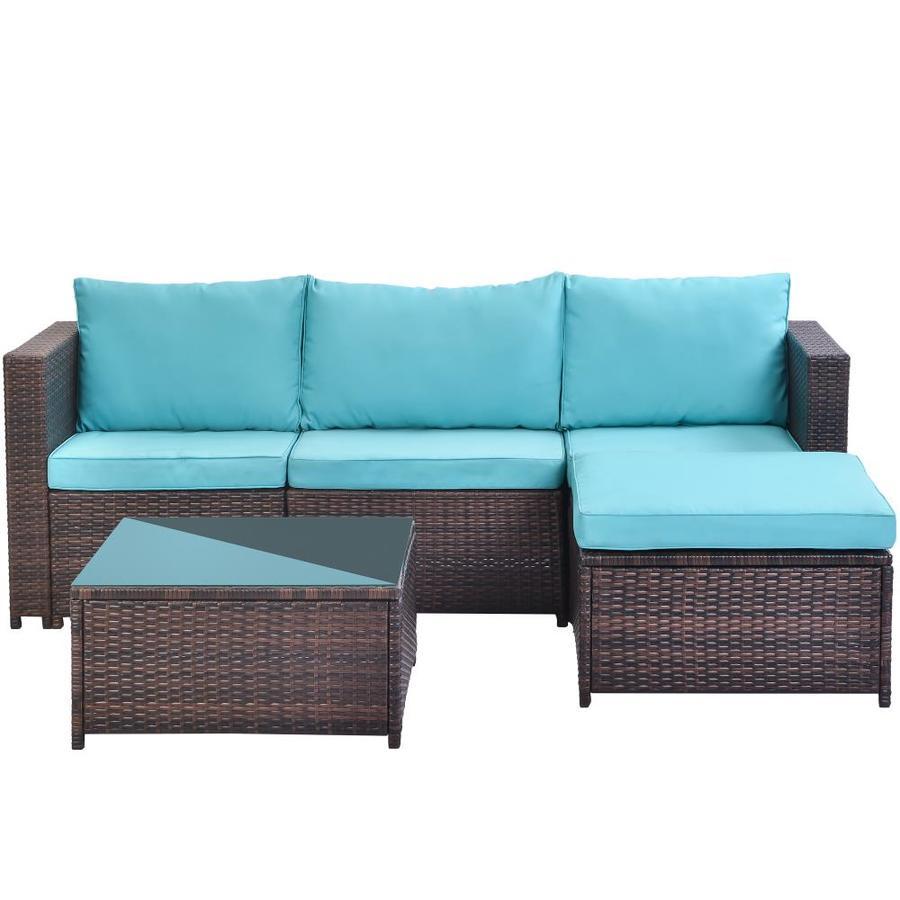 casainc outdoor sofa 5 piece resin