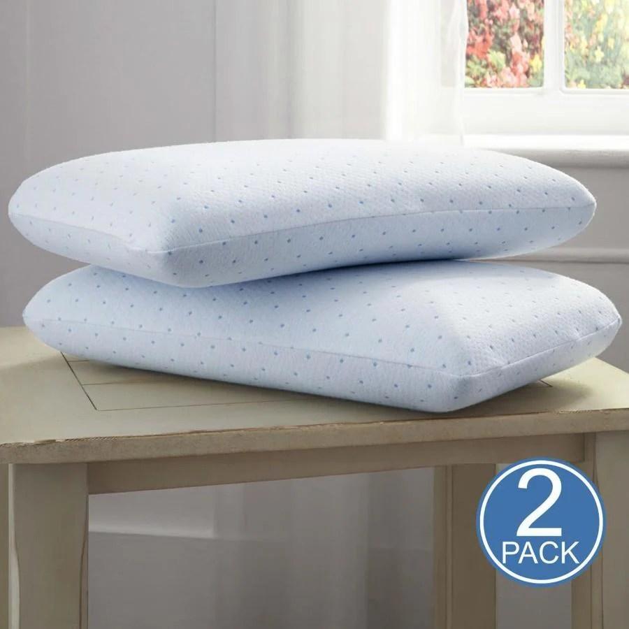 arctic sleep standard medium gel memory foam bed pillow lowes com