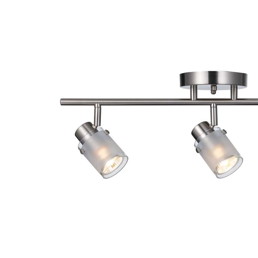 lighting ceiling fans allen roth cadigan 3 light 17 75 in satin nickel dimmable led track bar fixed track light kit ceiling lights