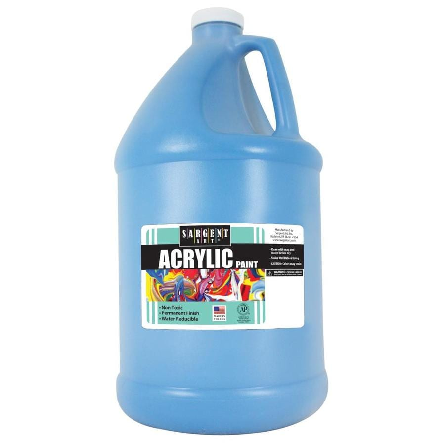 Sargent Art Turquoise Acrylic Tintable Paint Half Gallon In The Craft Paint Department At Lowes Com
