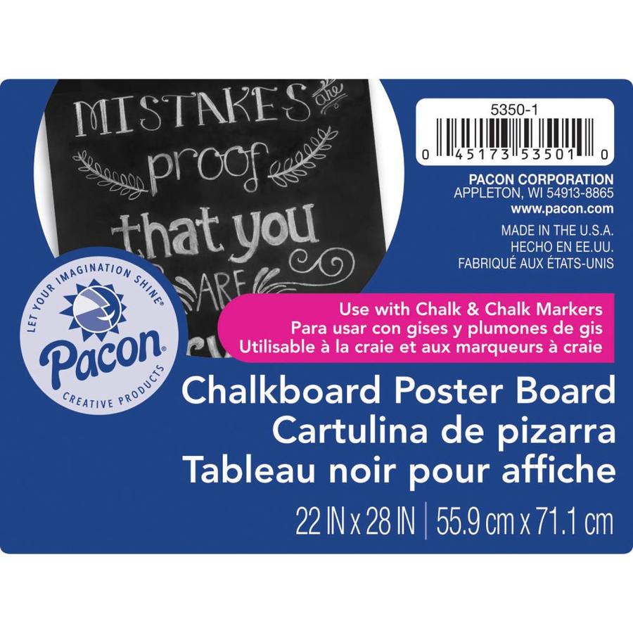 ucreate ucreate premium chalkboard poster board black 22 in x 28 in 25 sheets lowes com