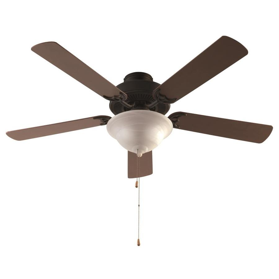 lucid lighting 52 in rubbed oil bronze indoor ceiling fan with light and wall mounted 5 blade