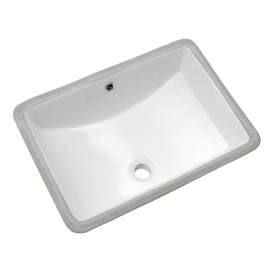 lordear porcelain vanity sink white ceramic undermount rectangular bathroom sink with overflow drain 21 in x 14 in