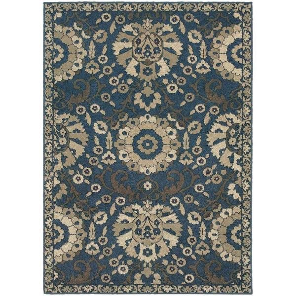 Archer Lane Kanabe Midnight Indoor Area Rug Common 10 X 13; Actual 9.5-ft 12.83-ft L
