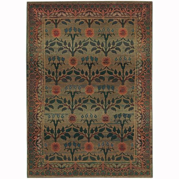 Archer Lane Daphne Green Indoor Area Rug Common 10 X 12; Actual 9.75-ft 12.17-ft L